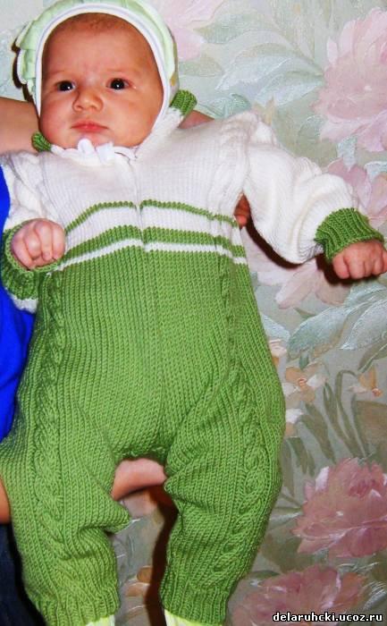 вязание для малышей комбинезоны.