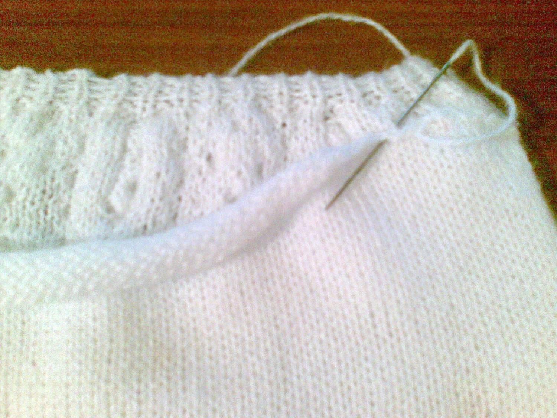 Вязание полой резинки по кругу 2